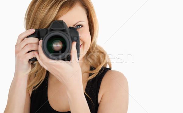 かわいい 女性 写真 カメラ 白 ストックフォト © wavebreak_media