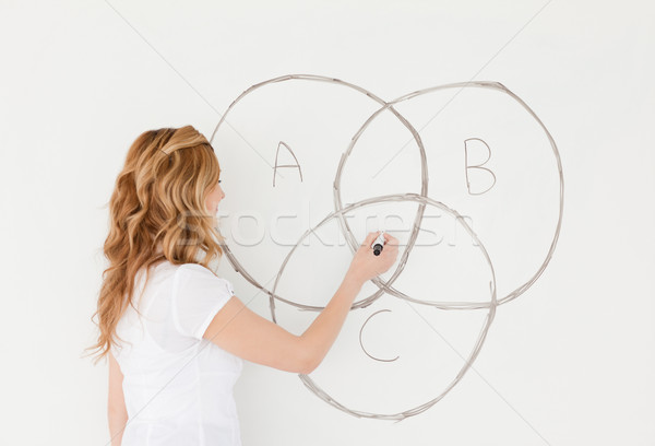 Leraar tekening klas school vrouwen Stockfoto © wavebreak_media