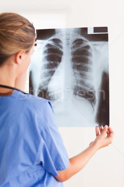 Orvos tart röntgen sztetoszkóp körül nyak Stock fotó © wavebreak_media
