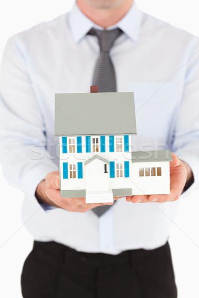 портрет человека миниатюрный дома белый Сток-фото © wavebreak_media