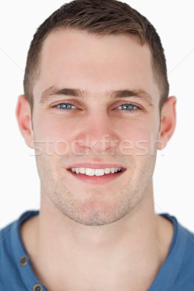 портрет улыбаясь человека белый лице счастливым Сток-фото © wavebreak_media