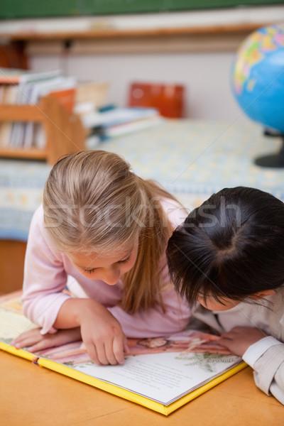 Portret koncentruje uczennice czytania bajki klasie Zdjęcia stock © wavebreak_media