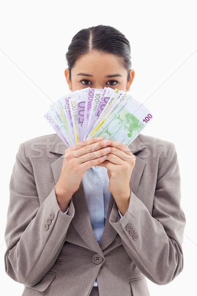 Stok fotoğraf: Portre · açgözlü · işkadını · banka · notlar