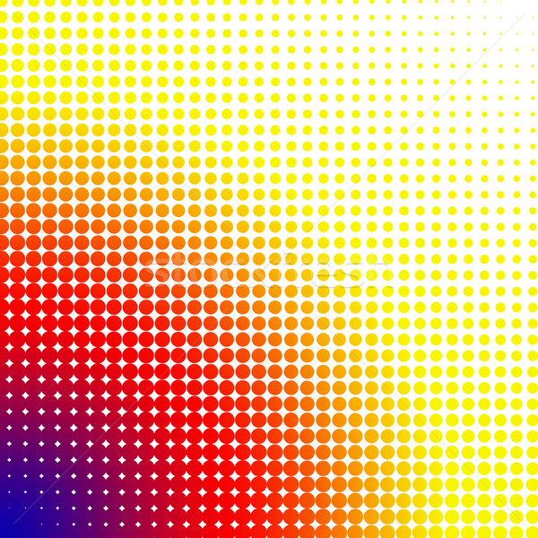 Bright dots changing form against a white background Stock photo © wavebreak_media