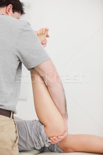 Nő előre manipulált orvos szoba férfi Stock fotó © wavebreak_media