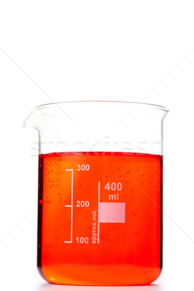 Proveta branco médico vidro laranja medicina Foto stock © wavebreak_media