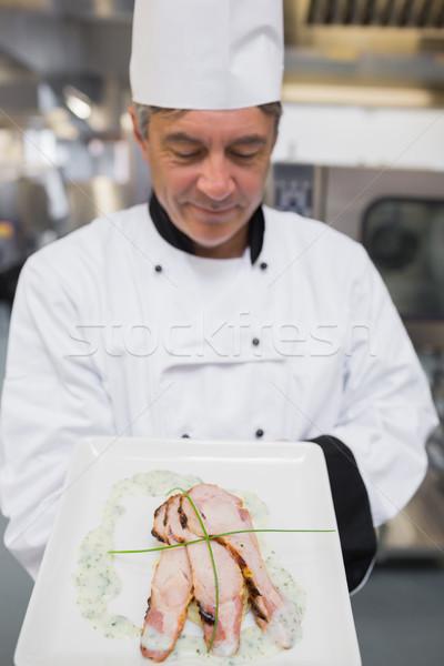 Cocinar comida mirando pollo hortalizas Foto stock © wavebreak_media