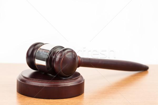 молота молоток столе прав Сток-фото © wavebreak_media