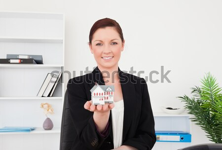 Ritratto donna d'affari modello casa giovani Foto d'archivio © wavebreak_media