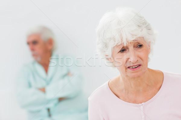 Coppia lotta anziani casa uomo triste Foto d'archivio © wavebreak_media