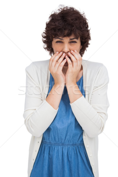 Woman showing expression of fear Stock photo © wavebreak_media