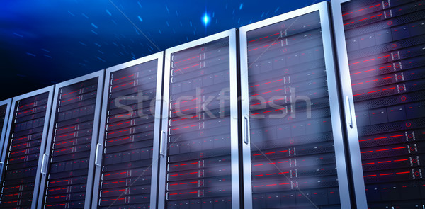 Composite image of server towers Stock photo © wavebreak_media