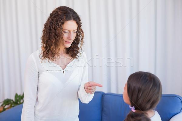 расстраивать матери глядя дочь гостиной женщину Сток-фото © wavebreak_media
