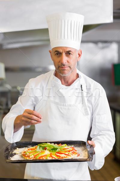 şef pişmiş gıda mutfak portre Stok fotoğraf © wavebreak_media