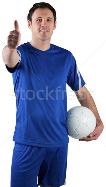 Guapo futbolista pelota blanco hombre Foto stock © wavebreak_media