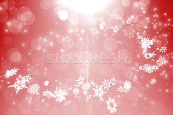 Piros terv fehér hópelyhek digitálisan generált Stock fotó © wavebreak_media