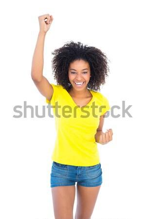 かなり 少女 黄色 Tシャツ デニム ホット ストックフォト © wavebreak_media