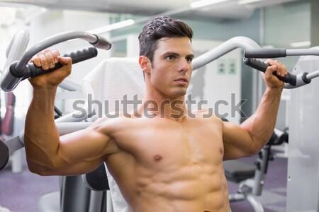 Shirtless male body builder doing pull ups Stock photo © wavebreak_media