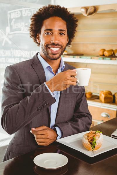 Businessman enjoying his lunch hour Stock photo © wavebreak_media