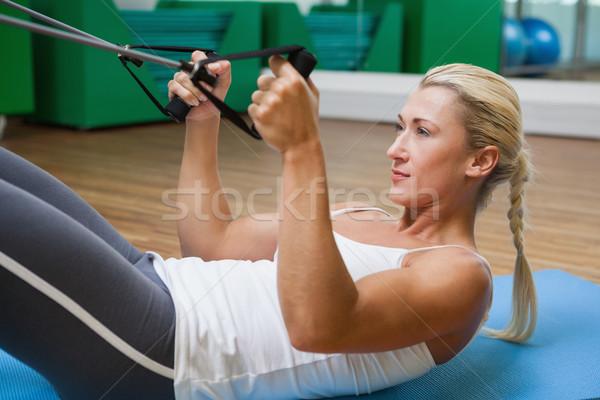 женщину сопротивление группы фитнес студию Сток-фото © wavebreak_media