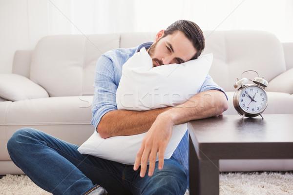 Kimerült férfi alszik fej pihen párna Stock fotó © wavebreak_media
