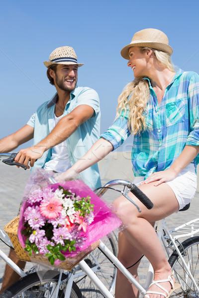 Sevimli çift bisiklet mutlu yaz Stok fotoğraf © wavebreak_media
