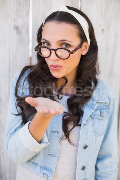 Pretty hipster blowing a kiss Stock photo © wavebreak_media