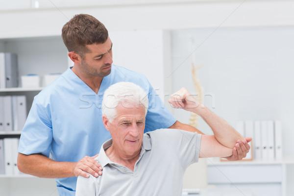 физиотерапия человека старший клинике здоровья больницу Сток-фото © wavebreak_media