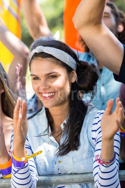 Excitado música ventilador festival mujer fiesta Foto stock © wavebreak_media