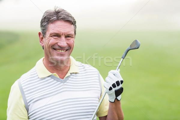 ゴルファー 笑みを浮かべて カメラ クラブ ストックフォト © wavebreak_media