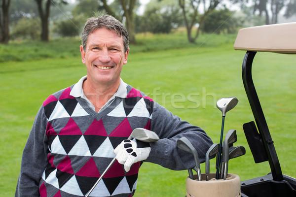 Mutlu golfçü golf golf sahası Stok fotoğraf © wavebreak_media