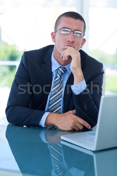 Thoughtful businessman looking away Stock photo © wavebreak_media