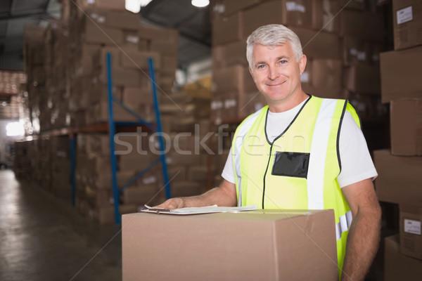 Handbuch Arbeitnehmer Halle Porträt stehen Mann Stock foto © wavebreak_media