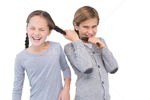 Angry young boy pulling sister hair in a fight Stock photo © wavebreak_media
