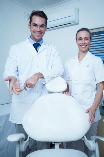 портрет улыбаясь Стоматологи мужчины женщины счастливым Сток-фото © wavebreak_media