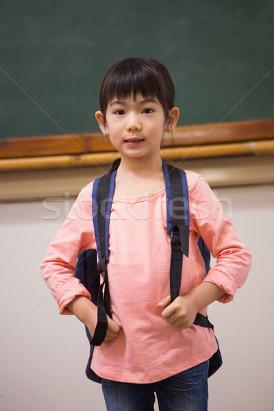 Aranyos néz kamera általános iskola iskola gyermek Stock fotó © wavebreak_media