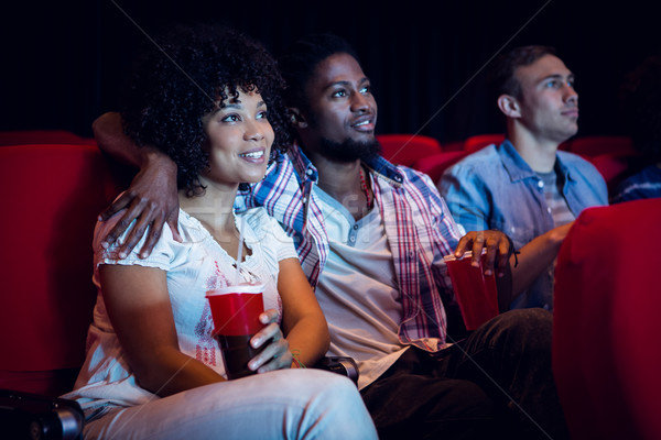 Fiatal pér néz film mozi nő film Stock fotó © wavebreak_media