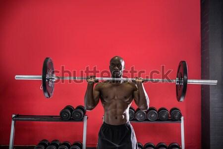 Genç vücut geliştirmeci crossfit spor salonu adam Stok fotoğraf © wavebreak_media