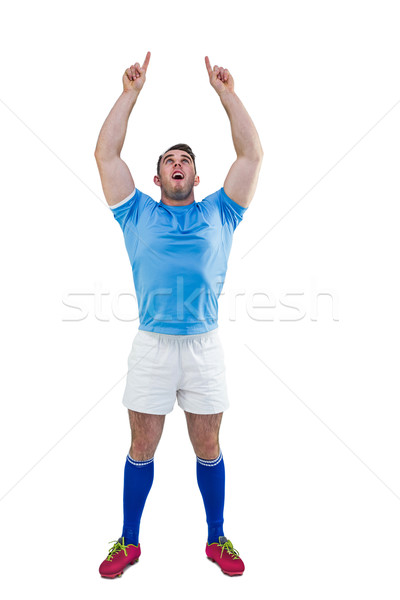 Rugby player cheering and pointing Stock photo © wavebreak_media
