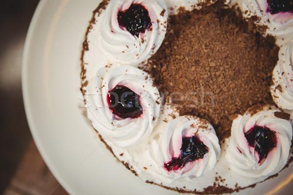 Close up view of chocolate gateau Stock photo © wavebreak_media