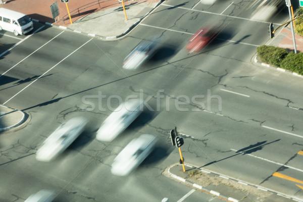 Vista borroso coches carretera Foto stock © wavebreak_media