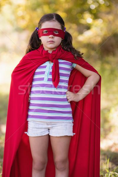 Meisje kostuum camping portret Stockfoto © wavebreak_media
