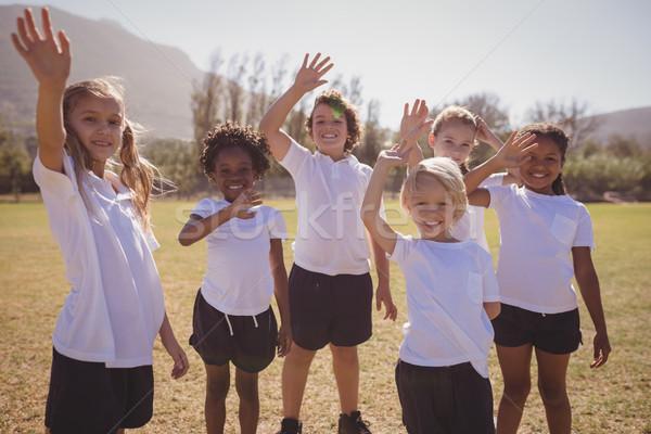 Retrato feliz alunas mãos parque Foto stock © wavebreak_media
