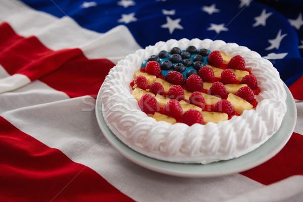 Serwowane tablicy amerykańską flagę żywności Zdjęcia stock © wavebreak_media