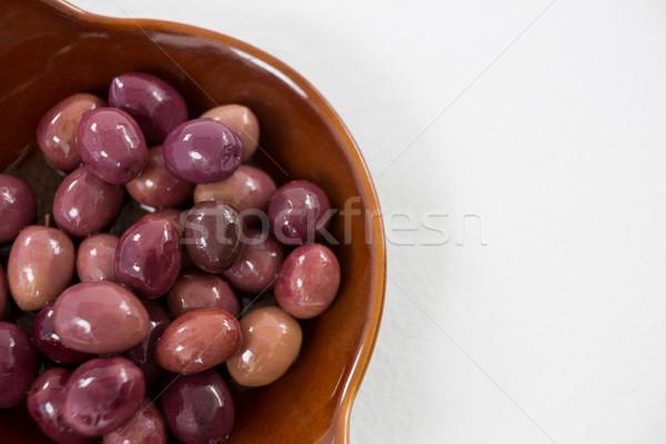 Mariné olives bol alimentaire fruits Photo stock © wavebreak_media
