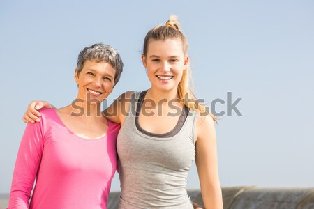 Anne kız gülen diğer mesire Stok fotoğraf © wavebreak_media