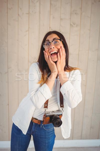 かなり ヒップスター 木製 女性 ストックフォト © wavebreak_media