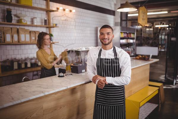 портрет официант Постоянный борьбе кофейня официантка Сток-фото © wavebreak_media