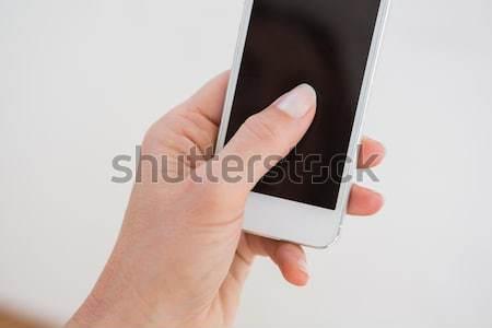 Strony smart oglądać biały informacji kobiet Zdjęcia stock © wavebreak_media