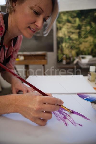 Nő festmény rajz könyv osztály festék Stock fotó © wavebreak_media